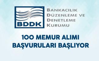 BDDK 100 Memur Alımı Başvuruları Başlıyor !
