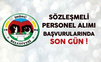 Eskişehir İnönü Belediyesi Sözleşmeli Personel Alımında Son Gün !