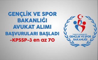 Gençlik ve Spor Bakanlığı Avukat Alım Sınavı Başvuruları Başladı