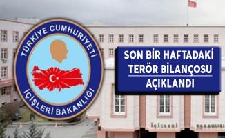 İçişleri Bakanlığı Son Bir Haftadaki Terör Bilançosunu Yayımladı