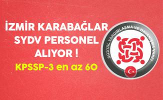 İzmir Karabağlar SYDV Kamu Personeli Alıyor