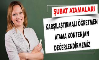 Karşılaştırmalı Öğretmen Atama Kontenjan Değerlendirmemiz