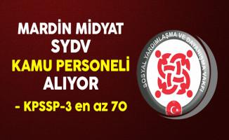 Mardin Midyat SYDV Kamu Personeli Alıyor