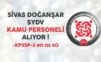 Sivas Doğanşar SYDV Kamu Personeli Alıyor