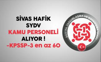 Sivas Hafik SYDV Kamu Personeli Alıyor