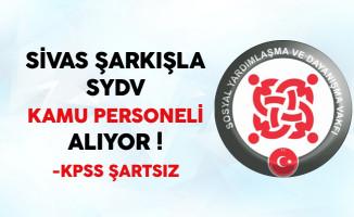 Sivas Şarkışla SYDV Kamu Personeli Alıyor