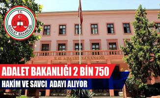 Adalet Bakanlığı 2 Bin 750 Hakim ve Savcı Adayı Alıyor
