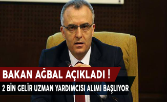 Bakan Naci Ağbal Açıkladı ! 2000 Gelir Uzman Yardımcısı Alım İlanı Yayımlanıyor