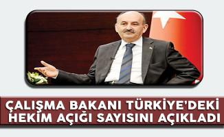 Çalışma Bakanı Müezzinoğlu Türkiye'dek Hekim Açığı Sayısını Açıkladı