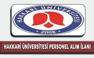 Hakkari Üniversitesi Akademik Personel Alım İlanı