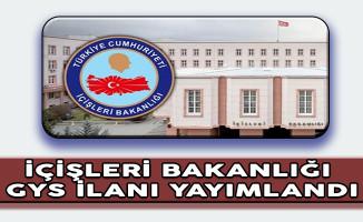 İçişleri Bakanlığı Görevde Yükselme Sınav İlanı Yayımlandı