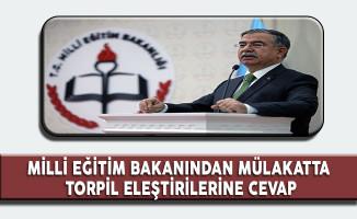 Milli Eğitim Bakanı Mülakatta Torpil Suçlamalarına Cevap Verdi!