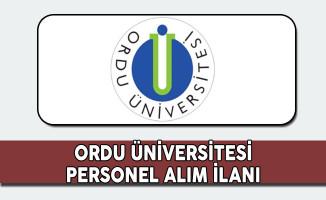 Ordu Üniversitesi Personel Alım İlanı