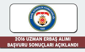 Sahil Güvenlik Komutanlığı 2016 Uzman Erbaş Alımı Başvuru Sonuçları Açıklandı