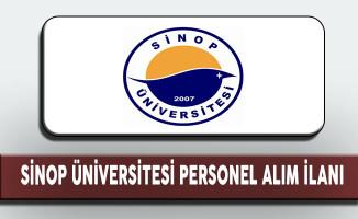 Sinop Üniversitesi Personel Alım İlanı