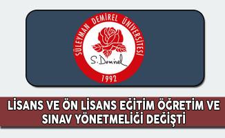 Süleyman Demirel Üniversitesi Ön Lisans ve Lisans Eğitim Öğretim ve Sınav Yönetmeliği Değişti