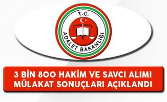 Adalet Bakanlığı 3 Bin 800 Hakim ve Savcı Alımı Mülakat Sonuçları Açıklandı