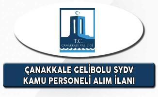 Çanakkale Gelibolu SYDV Kamu Personeli Alım İlanı