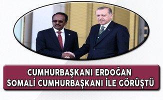 Cumhurbaşkanı Erdoğan Somali Cumhurbaşkanı İle Görüştü