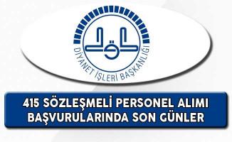 Diyanet İşleri Başkanlığı (DİB) 415 Sözleşmeli Personel Alımı Başvurularında Son Günler