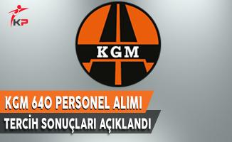 Karayolları Genel Müdürlüğü (KGM) KPSS 2017/4 Tercih Başvuru Sonuçları Açıklandı !