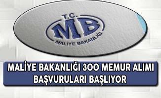 Maliye Bakanlığı 300 Memur Alımı Başvuruları Başlıyor !