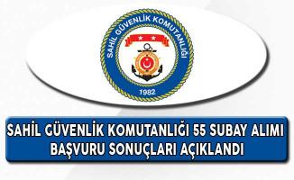 Sahil Güvenlik Komutanlığı 55 Subay ve Subay Alımı Başvuru Sonuçları Açıklandı