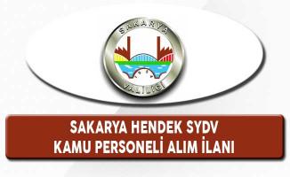 Sakarya Hendek SYDV Kamu Personeli Alım İlanı