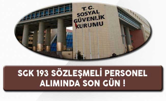 Sosyal Güvenlik Kurumu (SGK) 193 Büro Personeli Alımı Başvurularında Son Gün !