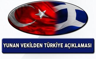 Yunan Vekilden Türkiye Açıklaması