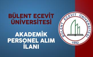Bülent Ecevit Üniversitesi Akademik Personel İlanı
