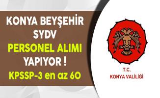 Konya Beyşehir SYDV Personel Alıyor
