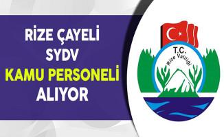 Rize Çayeli SYDV Kamu Personeli Alıyor