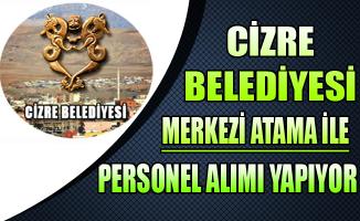 Cizre Belediyesi Merkezi Atama ile Memur Personel Alıyor