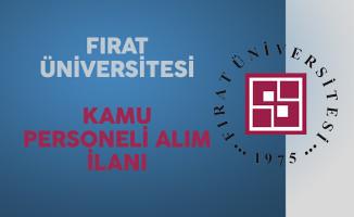 Fırat Üniversitesi Kamu Personeli Alımı Yapacağını Açıkladı