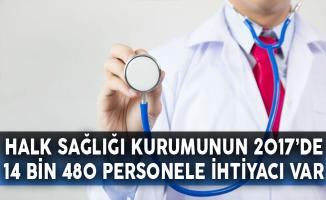 Halk Sağlığı Kurumunun 2017'de 14 Bin 480 Personele İhtiyacı Var