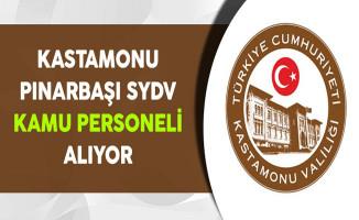 Kastamonu Pınarbaşı SYDV Kamu Personeli Alıyor