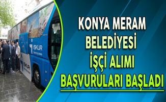 Konya Meram Belediyesi İşçi Alımı Başvuruları Başladı
