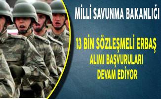 Milli Savunma Bakanlığı En Az İlkokul Mezunu 13 Bin Erbaş Alım Süreci Devam Ediyor!