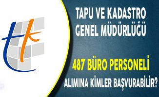 Tapu ve Kadastro 487 Büro Personeli Alımına Kimler Başvurabilir?