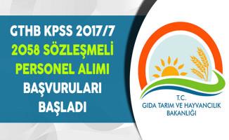 Tarım Bakanlığı  KPSS 2017/7 2 Bin 58 Personel Alımı Başvuruları Başladı