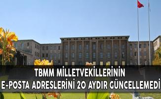 TBMM, Milletvekillerinin E-posta Adreslerini 20 Aydır Güncellemedi