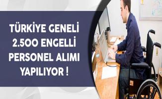 Türkiye Genelinde 2 Bin 500 Engelli Personel Alınıyor