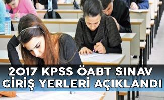 2017 KPSS ÖABT Sınav Giriş Belgeleri ÖSYM Tarafından Açıklandı