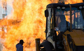 Ankara'da Doğalgaz Boru Hattında Yangın Çıktı !