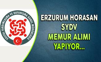 Erzurum Horasan SYDV Memur Alımı Yapıyor