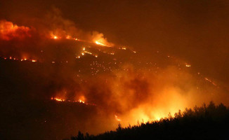 İzmir'de Süren Orman Yangını Söndürülemiyor! 2 Bin Kişi Tahliye Edildi