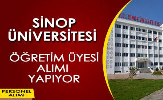 Sinop Üniversitesi Öğretim Üyesi Alımı İlanı