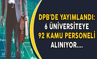 6 Üniversiteye 92 Kamu Personel Alımı Yapılıyor