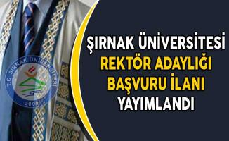 Şırnak Üniversitesi Rektör Adaylığı Başvuru İlanı Yayımlandı